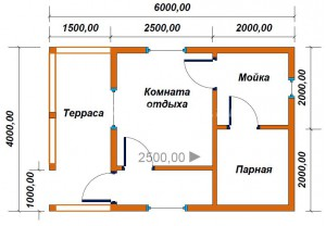 проект бани 3х5