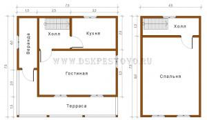 проект дома 6х7,5