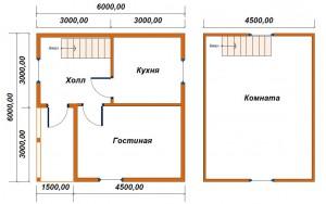 проект дома 6х8