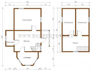 проект дома 5х7