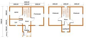 проект дома 4х8