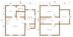 проект дома 8,5х8,5