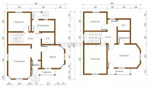проект дома 9x10,5
